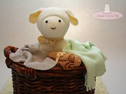 little lamb in a wicker basket cakecentral com