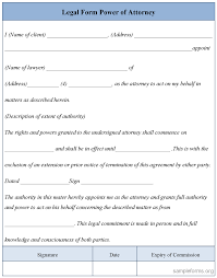 Power Of Attorney Sample Form by Legal Form Power Of Attorney Sample Legal Form Power Of Attorney