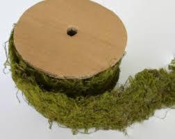 moss ribbon artificial moss etsy