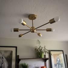 Mid Century Modern Ceiling Light Impressive On Diy Ceiling Lights Diy Sputnik Light Mid Century