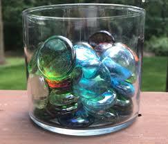 Vase Stones Set Of 55 Multi Colored Glass Vase Filler Pebbles Glass Pebbles