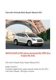 chevrolet orlando body repair manual 2011 by molly issuu