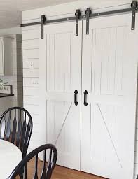 Home Decor Barn Hardware Sliding Barn Door Hardware 10 by 8ft Double Sliding Barn Door Hardware Kit
