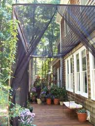 mosquito netting curtains for a diy screen patio possible