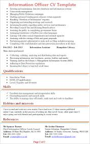 Statistician Resume Example by Information Officer Cv Template Tips And Download U2013 Cv Plaza