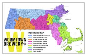 Concord Massachusetts Map by Wormtown Brewery