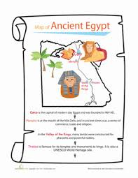 ancient egypt map worksheet education com