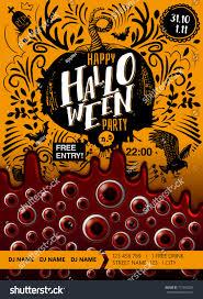 halloween drink names happy halloween party poster blood looking stock vector 717302269