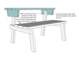 How To Build A Wooden Picnic Table by Ana White Picnic Table That Converts To Benches Diy Projects