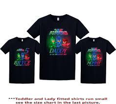pj masks birthday shirt pj masks custom shirt personalized