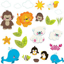 new fisher price precious planet wildlife nursery wall stickers ebay