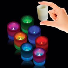 multi color led flameless votive candle