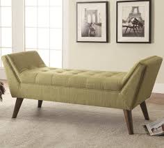 coaster benches mid century modern upholstered accent bench del
