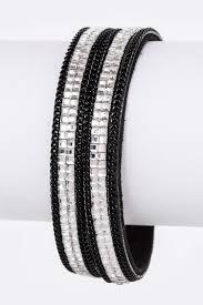 magnetic wrap bracelet images Baguette crystal double wrap magnetic bracelet jpg
