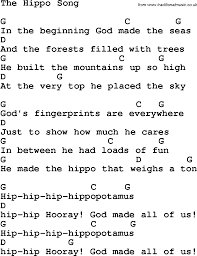 christian childrens song the hippo song lyrics
