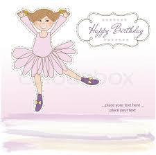 girl birthday sweet girl birthday greeting card stock vector colourbox