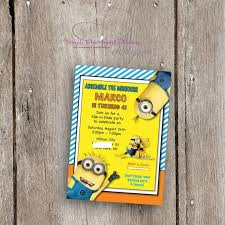 diy minion invitations birthday invites glamorous personalized minion birthday