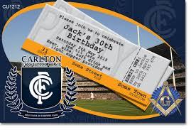 carlton invitations cu1212 carlton fc football club birthday invitation mens