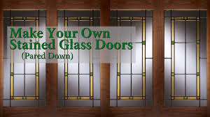 faux stained glass kitchen cabinets make your own stained glass doors pared