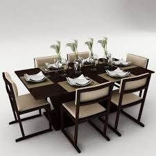 Dining Table For 20 Dining Table Set 3d Model Fbx Cgtrader