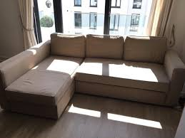 Small Scale Sectional Sofas Furniture Contemporary Sofa With Awesome Manstad Ikea