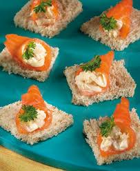 canapé saumon saumon fumé sur canapé colruyt