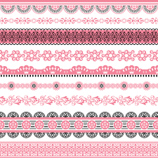 set of lace ornament mix vector 04 vector frames borders free