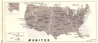 Allegiant Route Map by Airline Timetables United Airlines January 2001