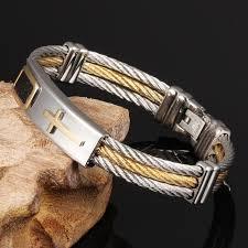 cross bracelet bangles images Mozo fashion trendy men punk jewelry stainless steel cross jpg