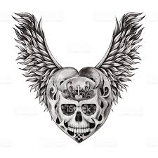 skull wings stock vector more images of