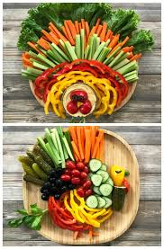 how to make a thanksgiving turkey veggie platter tastythin