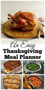 Easy Recipes For Thanksgiving Dinner Best 25 Thanksgiving Menu Planner Ideas On Pinterest