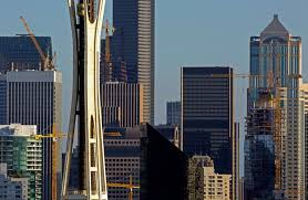 seattle city light change of address seattle skyline is tops in construction cranes more than any other
