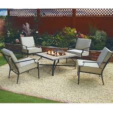 Patio Furniture Sets With Fire Pit by Nevada Five Piece Firepit Garden Set