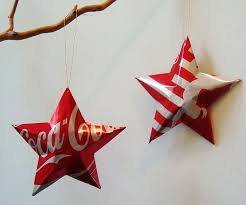 recycled coca cola tree decorations baubles ornaments