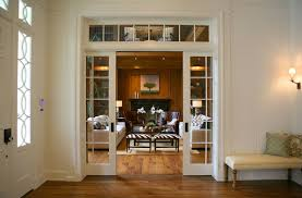 home office doors with glass glass pocket doors transitional entrance foyer giannetti home