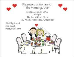 morning after wedding brunch invitations wedding invitations and cards from pen at stick figure