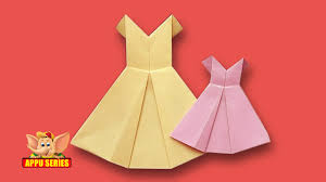 origami how to make a pretty dress youtube