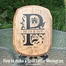 monogram plaques split letter monogram plaque that s what che said
