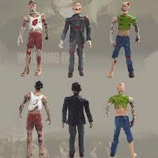 6pcs set walking dead corpses movie characters action zombie