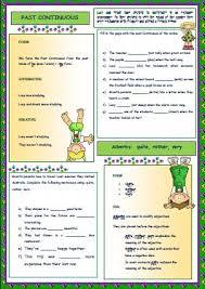 continuous tense worksheet