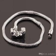 silver snake chain bracelet images Newest fashion 3mm 16cm 23cm 925 logo bracelet chain new 925 jpg