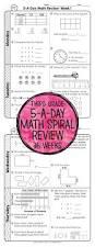 3rd grade daily math spiral review morning work math concepts