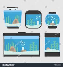 set flat style aquarium tanks 5 stock vector 569463313 shutterstock