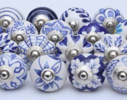Porcelain Knobs For Kitchen Cabinets Blue And White Ceramic Knobs Ceramic Door Knobs Kitchen Cabinet