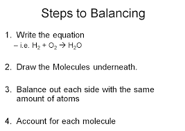 conservation of matter allows for balancing chemical equations