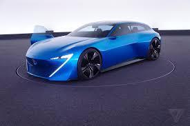 peugeot concept cars peugeot u0027s instinct concept car is its vision of an autonomous near