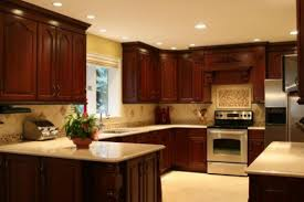 Kitchen Design Cherry Cabinets by Tile To Match Cherry Cabinets And Black Galaxy Granite Google