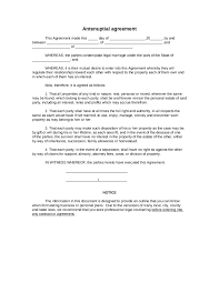 Legal Separation Letter by Sample Antenuptial Agreement Form Blank Antenuptial Agreement