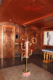 enigma mansion antiqued copper leafed walls and ceilings paintiques